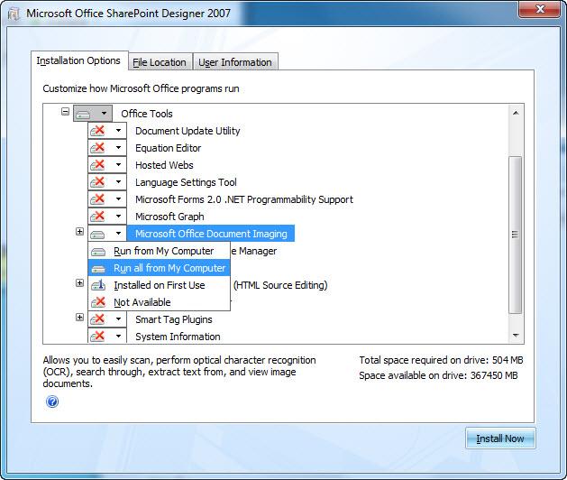 Install MODI on Windows 10 – Call Kon for Computer & Network